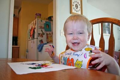 Рисование для самых маленьких. Пальчиковые краски. Рецепты красок для детей.