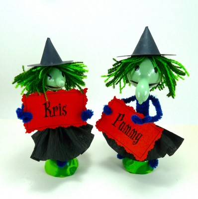 Как сделать маленьких ведьмочек своими руками.