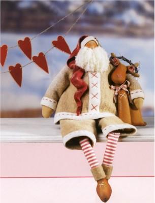 Выкройка для шитья Тильда Санта – Клауса.
