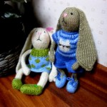 Вислоухий заяц - амигуруми. Описание вязания.