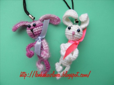 Мастер - класс по вязанию зайчика - брелка.