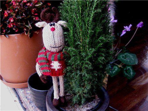 мужской свитер спицами. схема вязания шарфа с оленями.  Автор:Admin.