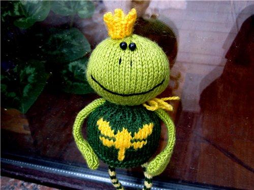 вязания лягушонка,