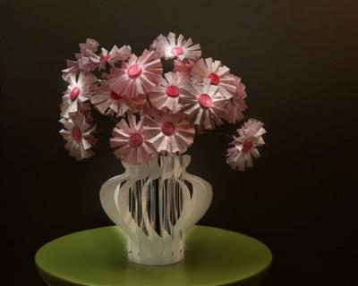 Бумажные цветочки к Дню Святого Валентина или восьмому марта.