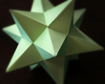 Объёмная новогодняя звезда