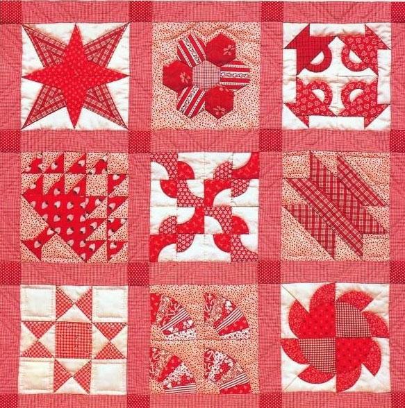 ...мы собрали схемы раскроя и сшивания блоков, которые могут стать в дальнейшем покрывалом, одеялом... пэчворк...
