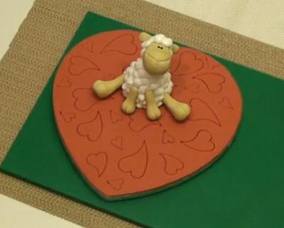 Люблю тебя. Твоя овечка из пластики.