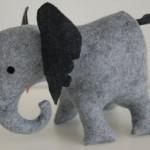Мягкие пухлые слоны своими руками.