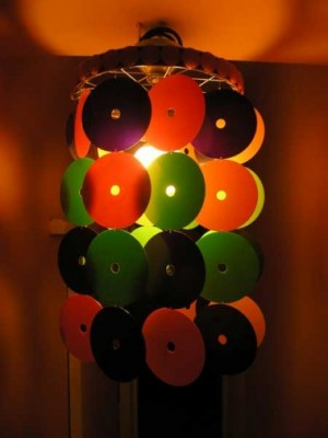 Абажур из CD - дисков.