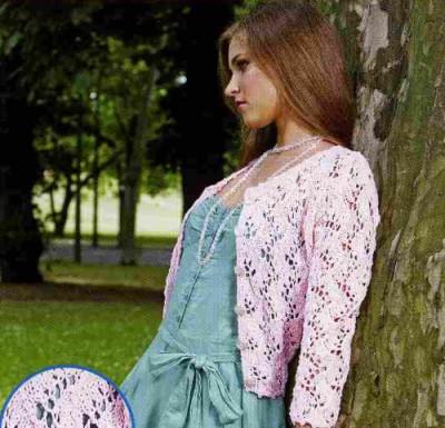 Вязание кардигана в романтическом стиле.