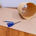 Декупаж лампы тканью. Как преобразить страрый абажур.