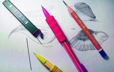 Рисуем бутоны карандашом и красками.