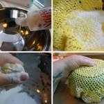 Пасхальная чаша из вязаной салфетки.