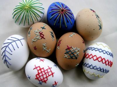 Вышивка на яичной скорлупе - удивительный пасхальный декор.