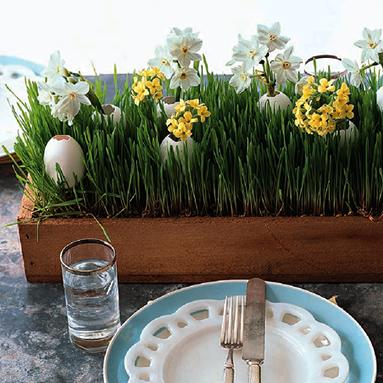Примеры пасхального украшения стола.