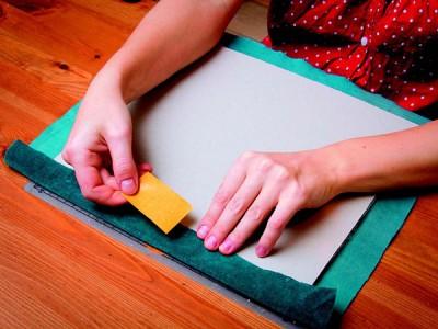 """Скрапбукинг. Как сделать обложку """"бархат"""" для свадебного фотоальбома."""