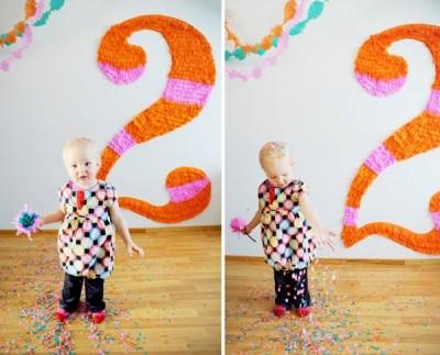 Идея по украшению стены к детскому празднику - Дню Рождения.