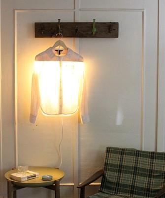 Оригинальный светильник своими руками. Вешалка с подсветкой.