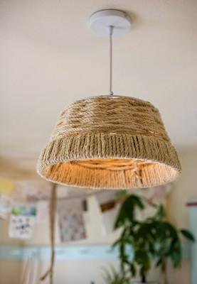 Эко - абажур. Верёвочный декор для дома.
