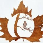 Художественное вырезание листьев.