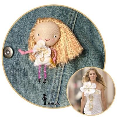 Уникальные идеи для подарка. Куклы - брошки.