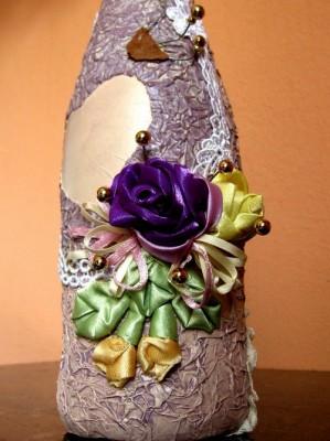 Мастер-класс от Светланы Христенко по декору подарочного шампанского.