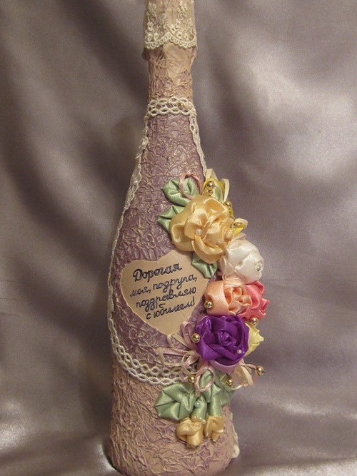 Бутылки оформленные своими руками мастер класс 245