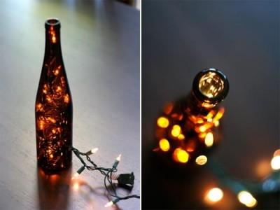 Как сделать стильный светильник - украшение из винной бутылки.