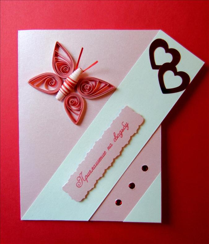 Сделать открытку руками на свадьбу 761