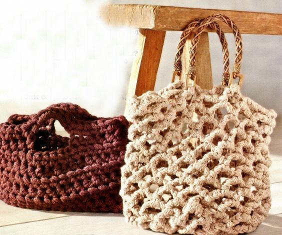 Самое простое вязание: мастерим модные сумки.  Обсуждение.