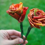 как сделать розы из листьев