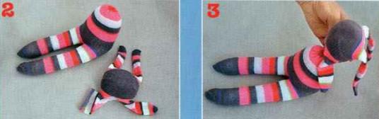 как сшить из носка игрушки