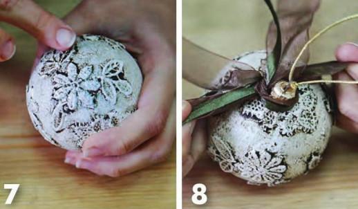 как сделать новогодний шар