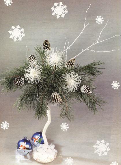 Новогодняя флористическая композиция своими руками