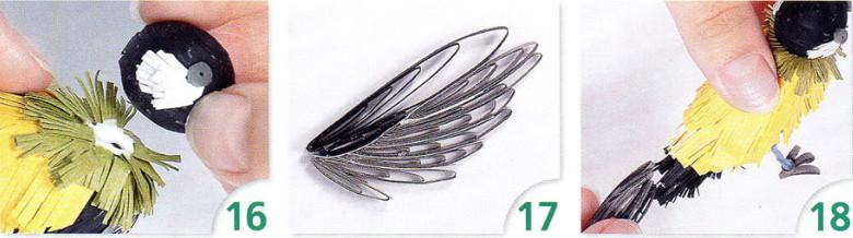 18 готовые крылья и хвост приклейте к