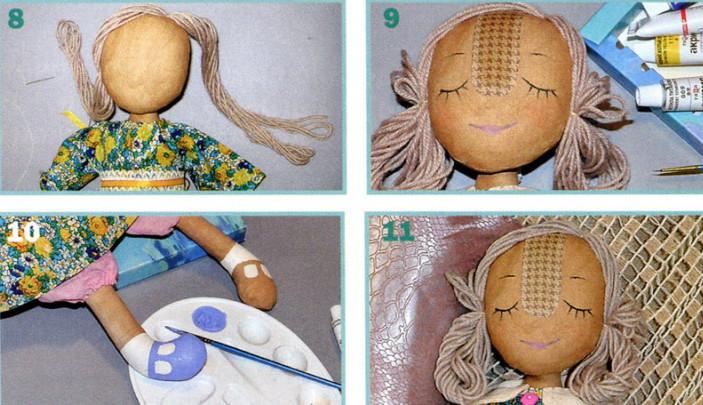 Волосы для куклы из ткани своими руками 47