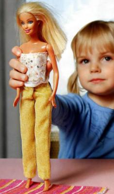 брюки на куклу