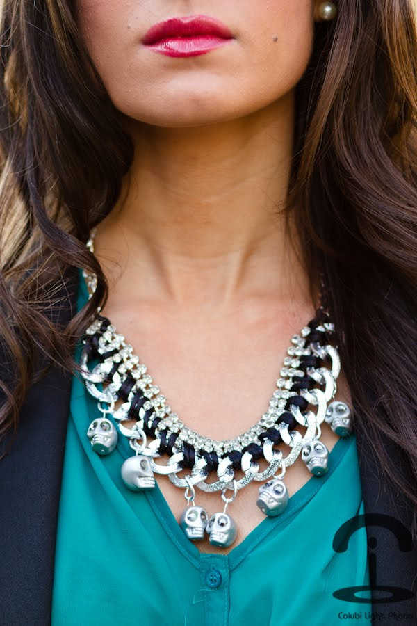 Ожерелье с черепами. Делаем украшение из цепочек