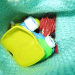 детский рюкзачёк изнутри