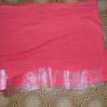 кроим ткань для платья девочки