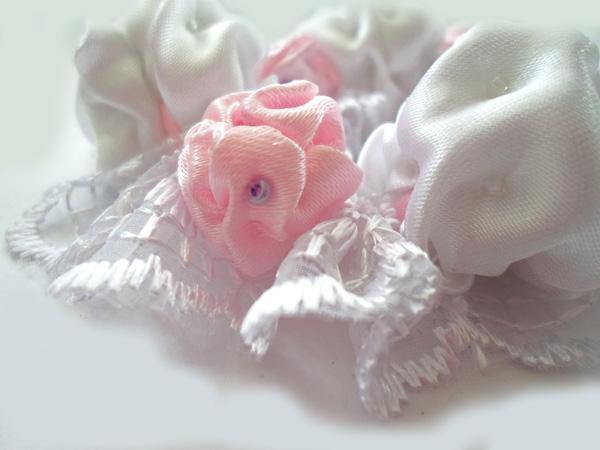 Нежный текстильный браслет